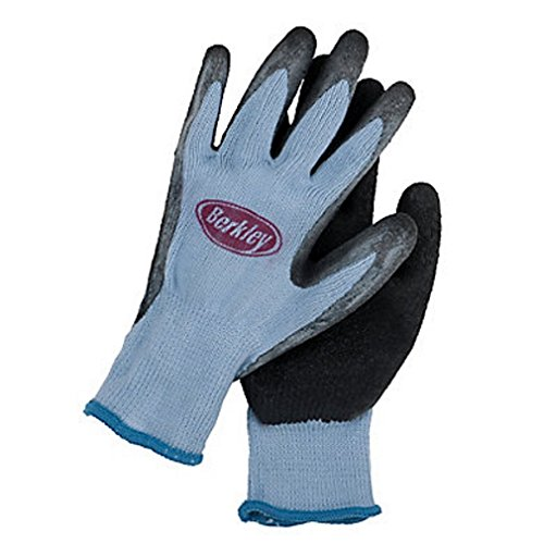 Berkley Coated Fishing Gloves, Blue/Grey