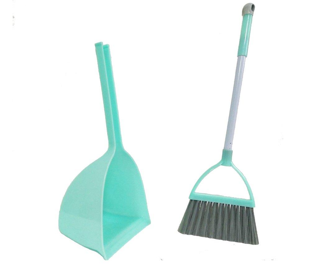 Xifan Mini Broom With Dustpan For Kids,Little Housekeeping Helper Set (Light Blue) by Xifan (Image #3)