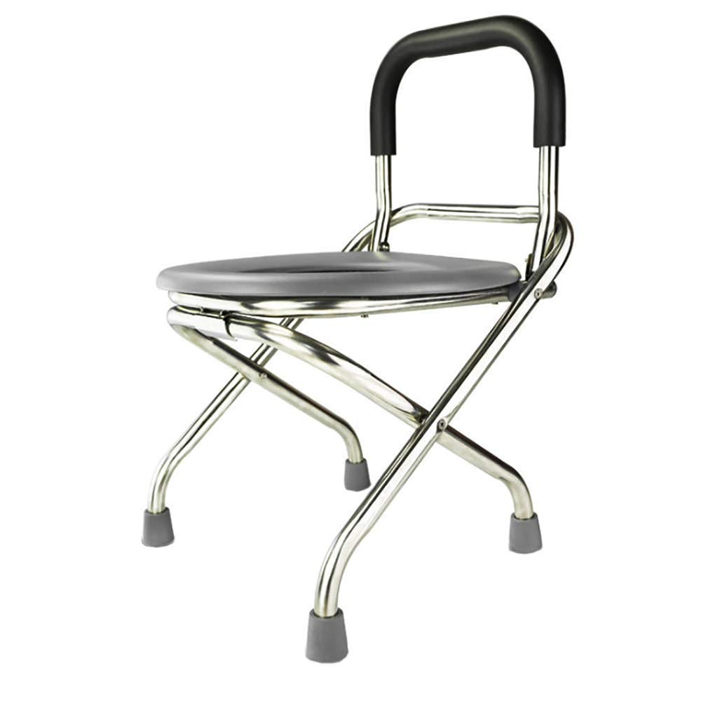 Folding Commode Portable Toilet Seat,Commode Chair - Perfect for Camping, Hiking, Trips, Construction Sites by HSRG