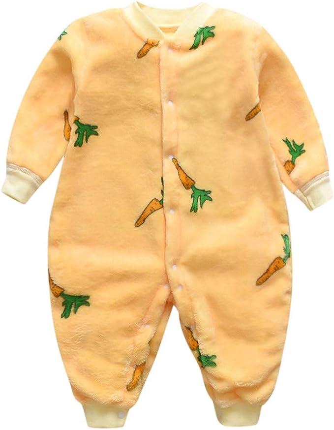 Wanshop® - Mameluco para recién nacidos, bebés, niñas, niños, franela, forro polar, pijama de dibujos animados, pijama de 0 a 18 meses