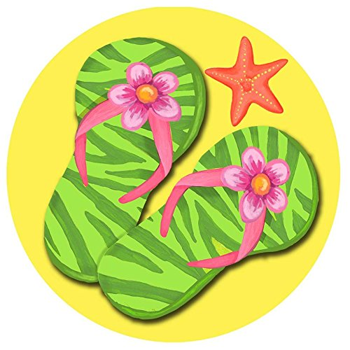 Accent Magnet-Flip Flop Welcome - Auto - Home - Kitchen -Yard -Six (6) Inch - Made in USA - Licensed , Copyrighted by Custom Decor Inc.