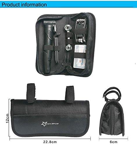 Hobopro 16 in 1 Multifunctional Portable Bike Bicycle Repair Tool Kit with Mini Pump