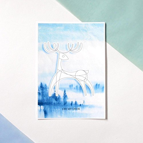 DIY painted Christmas Postcard- Oh my deer (Gift Baskets Nyc Delivery)