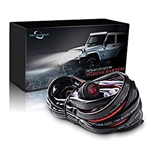 amazon com mictuning mic b1002 led light bar wiring harness, fuse Buy Wiring Harness mictuning mic b1002 led light bar wiring harness, fuse 40a relay on off waterproof switch buy wiring harness for 1946 chevy truck