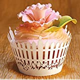 Joinwin® New Romantic 60 Garden fence Cupcake wrapper, party wedding/birthday decoration cupcake paper box
