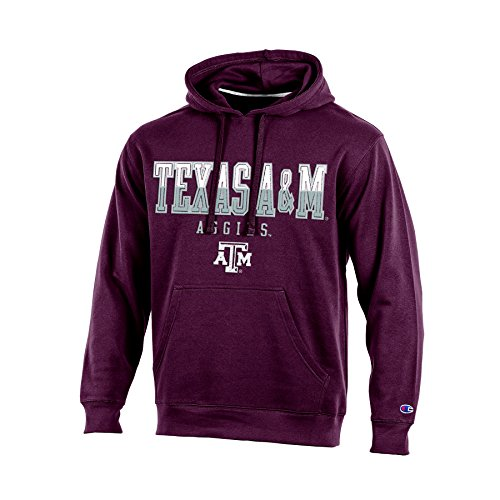Champion (CHAFK) NCAA Texas A&M Aggies Adult Men Pullover Hooded Fleece, X-Large, Maroon (Fleece Texas A&m)