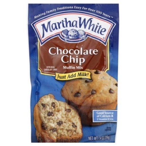 Martha White, Chocolate Chip Muffin Mix, 7.4oz Bag (Pack of 4)