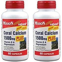 6 bott Coral Calcium 1500 mg Plus Vitamine D3 Magnesium Builds strong bones,help prevent osteoporosis.