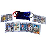 Baseball Cards Top Stars: Aaron Judge, Mike Trout, Bryce Harper, Justin Turner, Corey Seager, Jose Altuve, Cody Bellinger, Buster Posey, Giancarlo Stanton + Wristbands ASSORTED Card Gift Bundle
