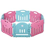 BestMassage Baby Playpen Kids 8 Panel Safety Play Center Yard Home Indoor Outdoor Pen