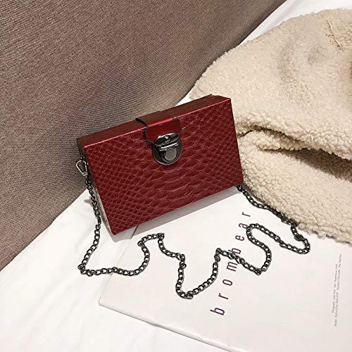 Piccola A Borsa Nera Tracolla Femminile Rosso Rossa Quadrata Xmy w6AqBCC
