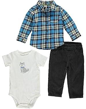 Carters Baby Boy 3-piece Bodysuit Pants Shirt Set