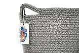 Halcyon Cotton Decorative Basket | Marled Grey