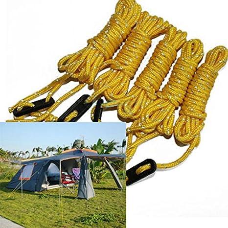 OurLeeme Zelt Abspannseile 4er Pack 3mm reflektierende Abspannleine Zeltf/ührungsseil mit Aluminium-Einsteller 13 Fu/ß Abspannleine f/ür Camping