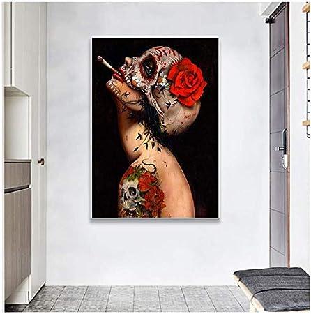 wzgsffs Arte Abstracto Enmarcado Pintura del Cuerpo Humano Cuadros de Pared para habitación en Lienzo Impresión y Carteles Decoración para el hogar-50X70 cm Enmarcado