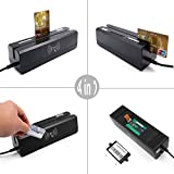 (US) 4-in-1 Tracks 3 Magnetic Stripe Card&EMV/IC Chip Card&PSAM Card&RFID Card Combo Reader Writer Credit Card Encoder with Free Software and SDK