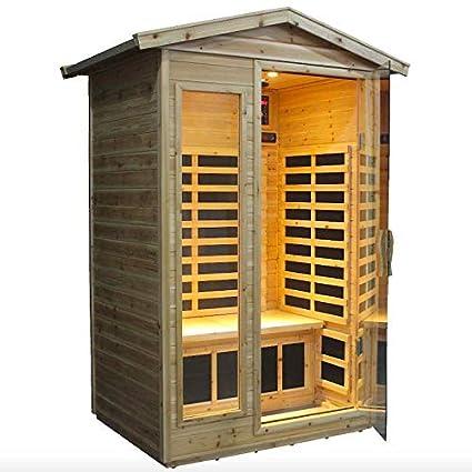Sauna Infrarossi Finlandese Da Esterno 125x105 Cm Amazon It