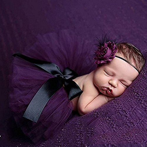 [Newborn Baby Girls Photography Props Outfits Dress Headband Tutu Skirt] (Cute Santa Outfits)