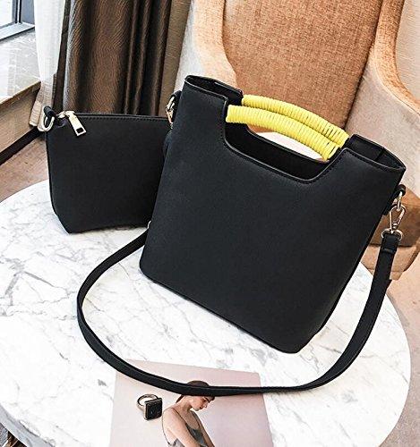 KPHY-Son Los Nuevos Bucket Bag Bolsa Grande Compuesto De Bolsas Todo Partido Bolsa De Hombro Messenger BagDe Gules black