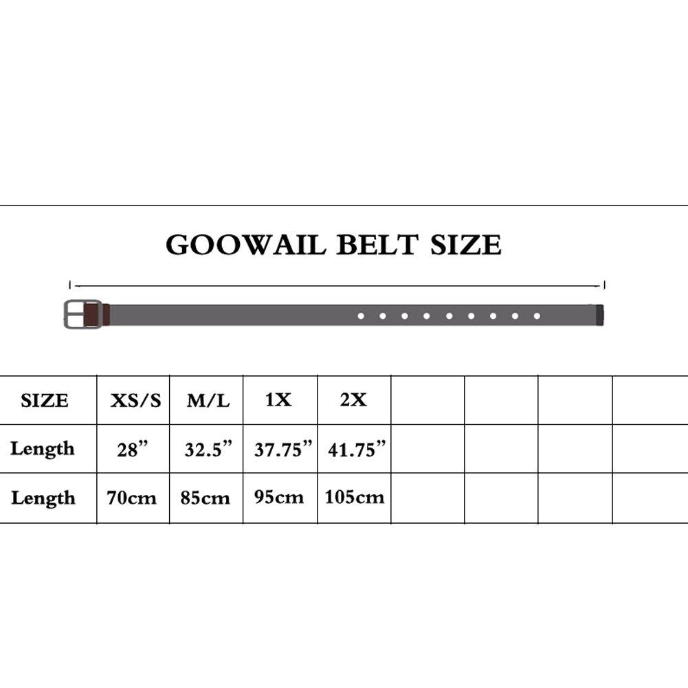 Goowail Twisted PU Stretch Women PU Leather Belt Buckle Wide Elastic Waist Belts