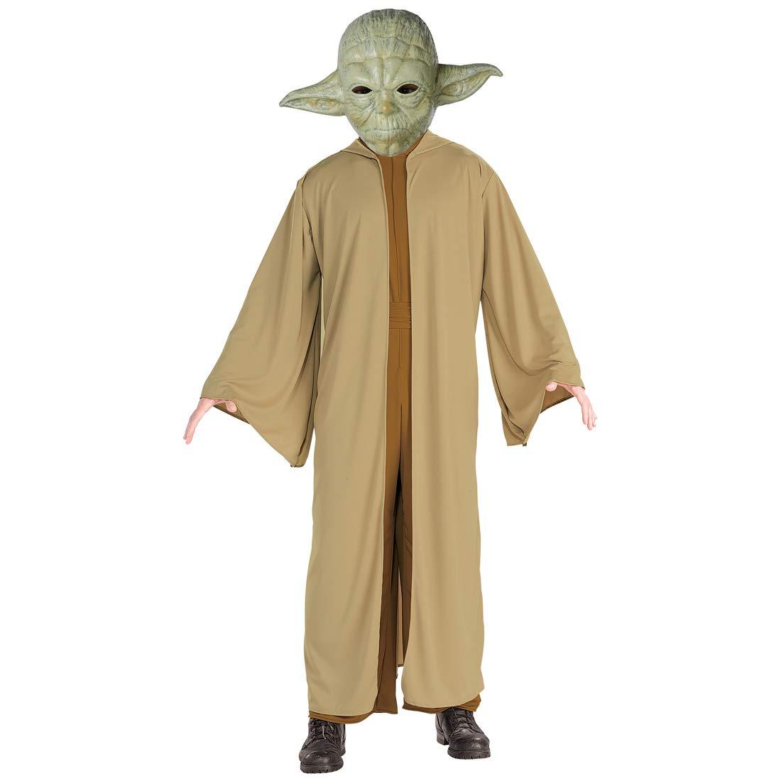 Costume da Maestro Yoda   Marronee-verde in Taglia Std (50 - 54)   Stupendo Outfit Starwars da Maestro Jedi   Adatto a Feste di Carnevale