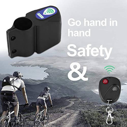 Wireless Security Vibration Sensor Alarm System Remote Control With Infrared Remote Control For Bicycle