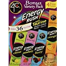 4C Totally Light Bonus Variety Pack, Energy Rush, 18-Count Boxes (Pack of 3)