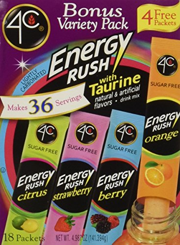 4C Totally Light 2 Go® Energy Rush Bonus Variety Pack