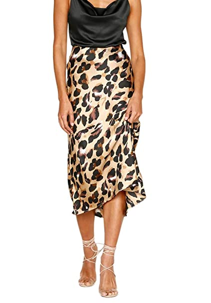 Yonala Women s Elegant Bodycon Skirts Elastic Waist Leopard Print Fishtail Pencil  Skirt at Amazon Women s Clothing store  f58ae3d95