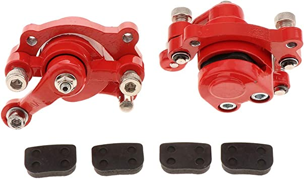 B Baosity 2 Stück Scheibenbremssattel Bremsbeläge Hinten Für 49cc Dirt Mini Pocket Bike Scooter Auto