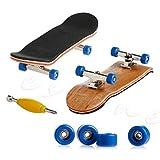 Kofun Mini Wooden Deck Finger Skateboard Maple Wood Set Dark Blue