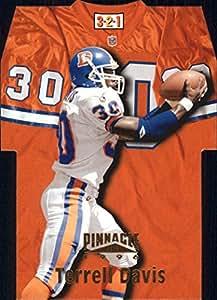 1996 Pinnacle Die Cut Jerseys #9 Terrell Davis - NM-MT