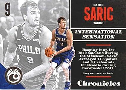 54c921b490b1 Basketball NBA 2017-18 Panini Chronicles  57 Dario Saric  57 Chronicles NM+  76ers