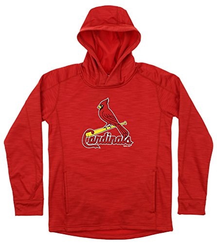 Outerstuff MLB Youth's Performance Fleece Primary Logo Hoodie, St. Louis Cardinals Large (14-16)