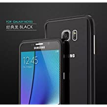 Galaxy Note 5 Case, 3D Curved Surface CNC Aviation Aluminum Alloy Metal Scratch-Resistant Built-in Sponge Drop Protection Bumper Frame Shell for Galaxy Note 5 Black