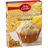 Betty Crocker Lemon Poppy Seed Muffin & Quick Bread Mix, 14.5 oz Box