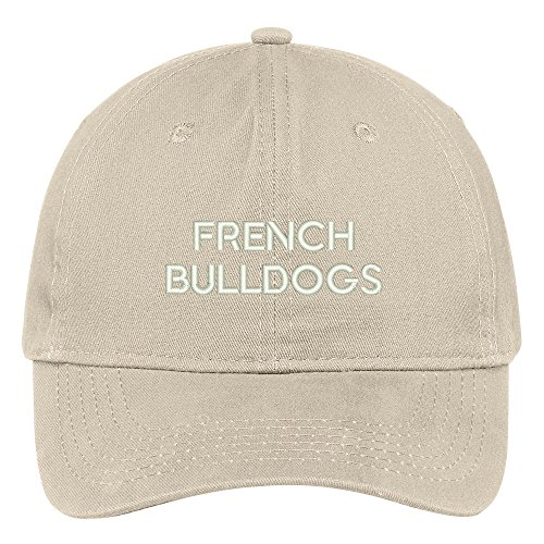 Trendy Apparel Shop French Bulldogs Dog Breed Embroidered Dad Hat Adjustable Cotton Baseball Cap - ()