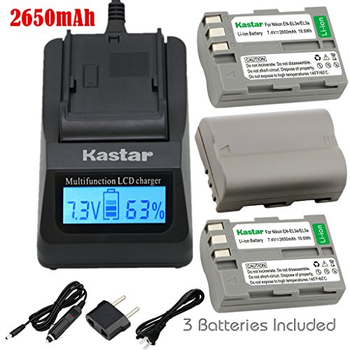 Kastar Ultra Fast Charger(3X faster) Kit and Battery (3-P...