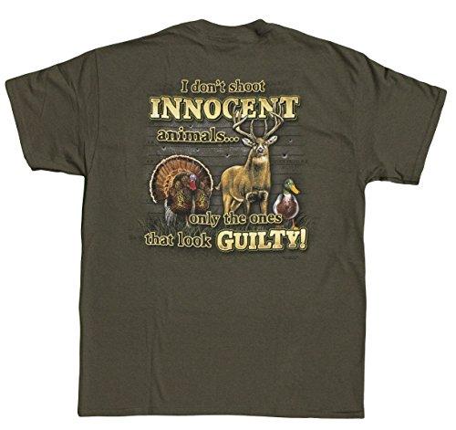 buckwear-mens-i-dont-shoot-innocent-animals-t-shirt-olive-x-large