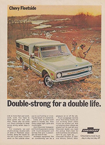 Double-strong for a double life Chevrolet Fleetside Pickup ad 1969 Arg