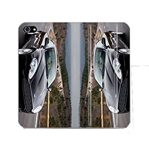Bondever aston martin PU Leather Snap-on Covers Cases for iPhone 5