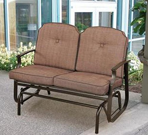 Amazon.com : Mainstays Wentworth Outdoor Glider Bench, Seats 2 : Patio,  Lawn & Garden - Amazon.com : Mainstays Wentworth Outdoor Glider Bench, Seats 2