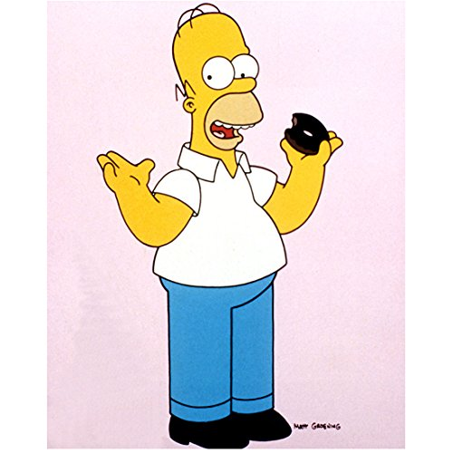 The Simpsons Homer Simpson with donut 8 x 10 Inch Photo