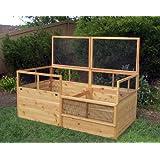 3x6 Rabbit-proof Raised Garden Bed with Two Trellises