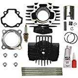 #1: YAMAHA PW 50 PW50 QT 50 QT50 Cylinder Piston Ring Head Gasket Set Kit BRAND NEW