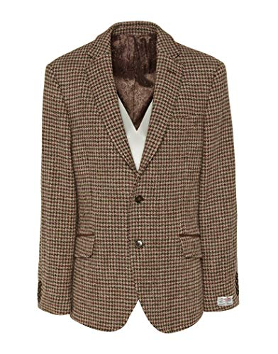 Country Attire Made in England Harris Tweed William Blazer 42 inch Beige