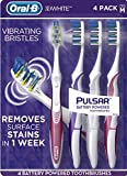 Oral-B Pulsar Vibrating Bristles Toothbrush, Medium, 4 Pack (Colors May Vary)