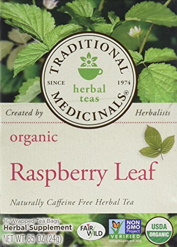 Traditional Medicinals Organic Raspberry Leaf Herbal Wrapped Tea Bags - 16 ct - 2 pk ()