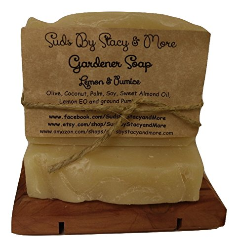 Suds By Stacy and More Gardener (Lemon & Pumice) Homemade Soap Bar - Two 4.5 ounce bars -