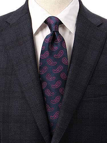 (ユニバーサルランゲージ) ペイズリー柄ネクタイ/Fabric by ITALY/ネイビー系の商品画像